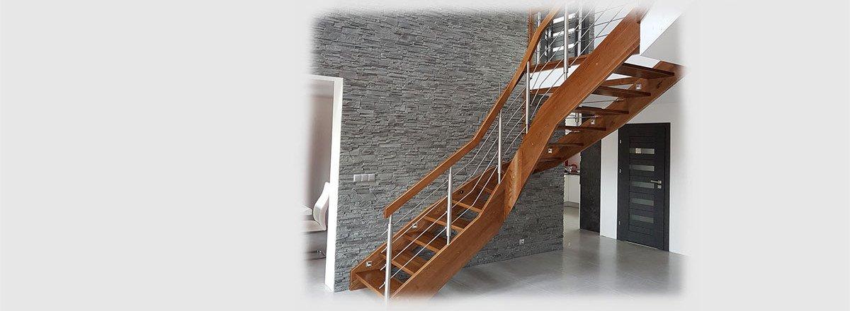 Schody konstrukcji samonośnej - Realizacja u klienta z Gdyni