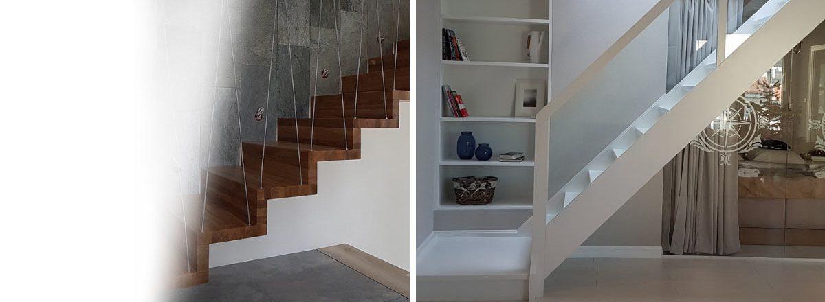 schody drewniane - samonośne