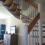 schody drewniane - dystanse smonośne